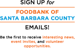 Foodbank Mailing List Sign-up