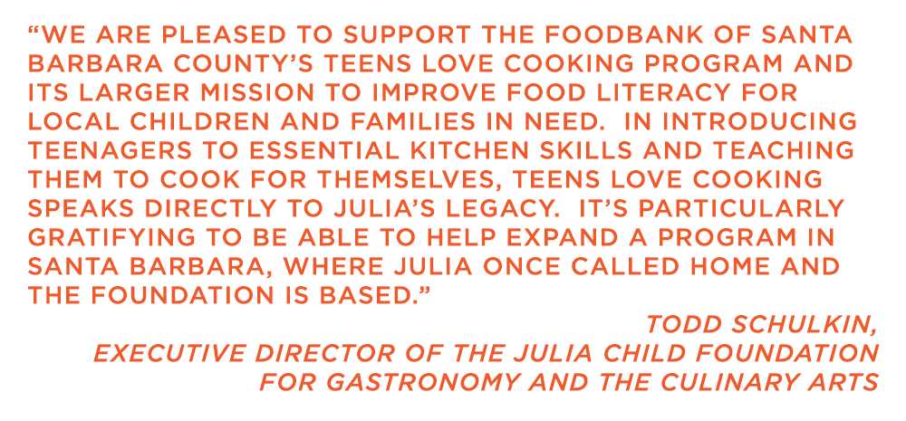 Foodbank_TeensLoveCooking_Quote_JuliaChildFoundation