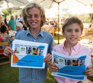 Foodbank's youngest philanthropists Dario and Jacob