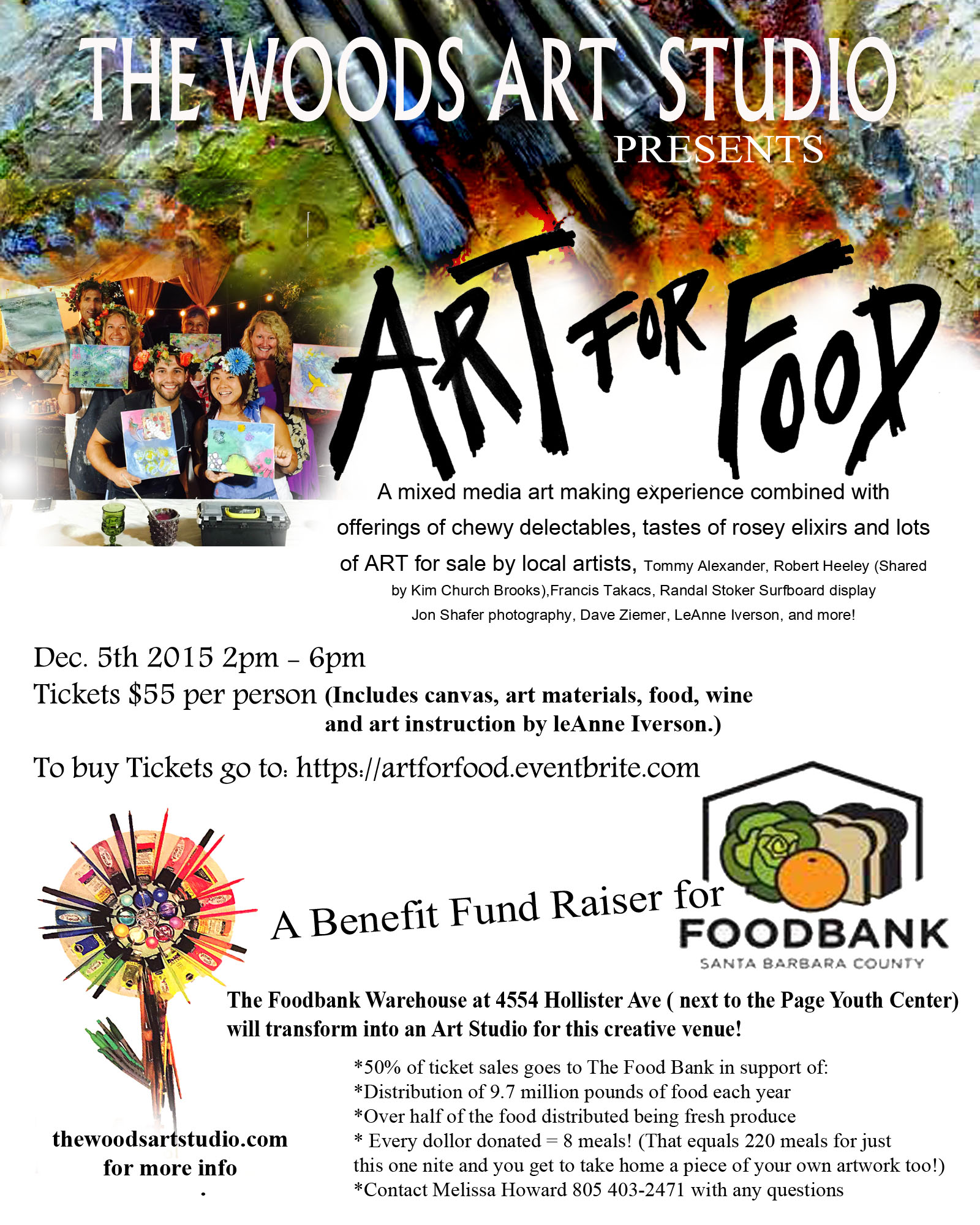 Art For Food Flyer Foodbank