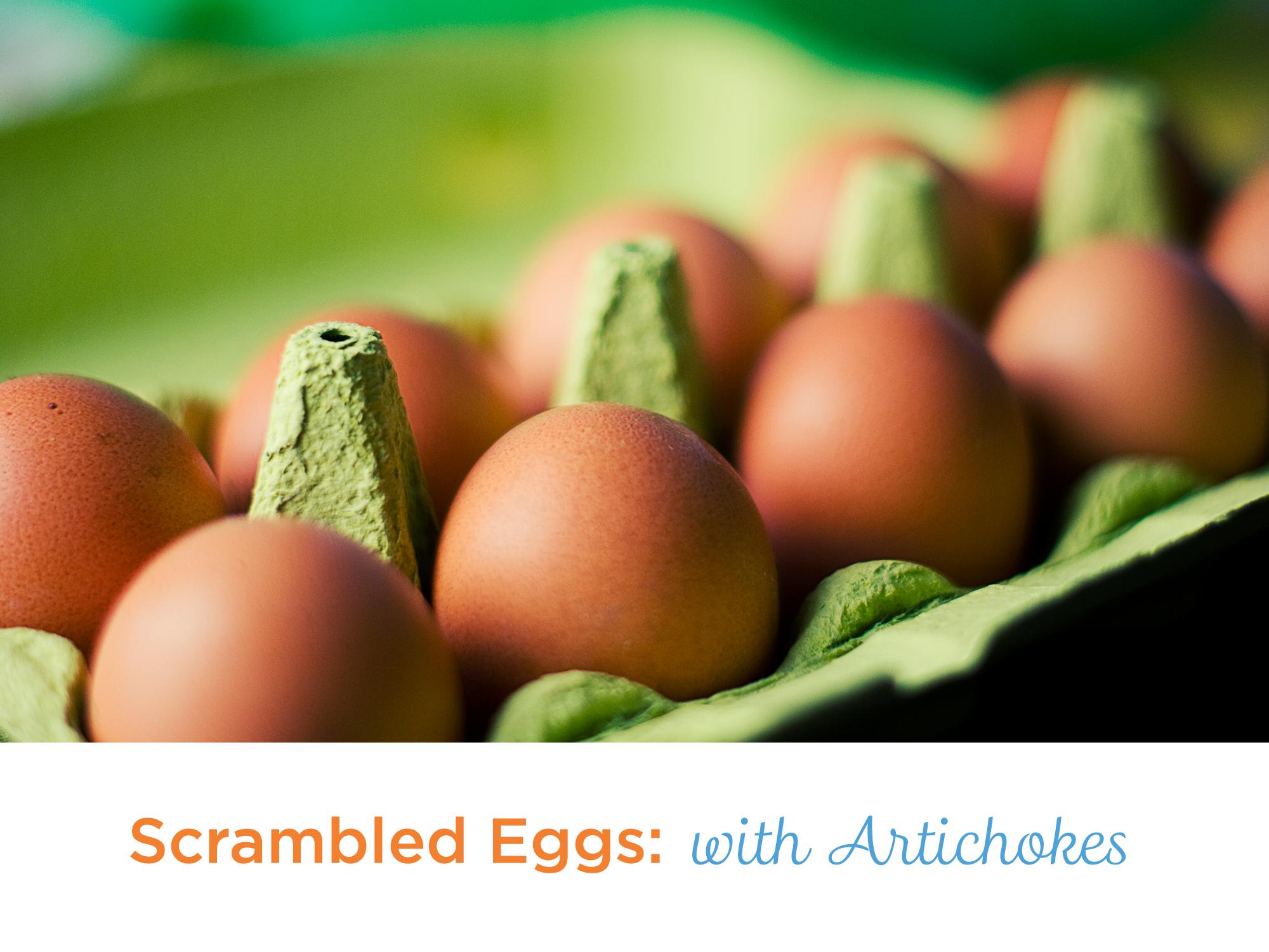 scrambled-eggs-ArtichokeRecipe_FoodbankRecipes